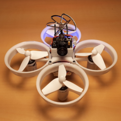 Free 3D print files Tiny Whoop 68mm polycarbonate cross fashion, Microdure