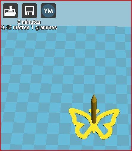 clou papillon.JPG Download free STL file butterfly nail • 3D print design, frednad