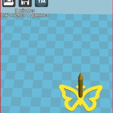 Free stl file butterfly nail, frednad