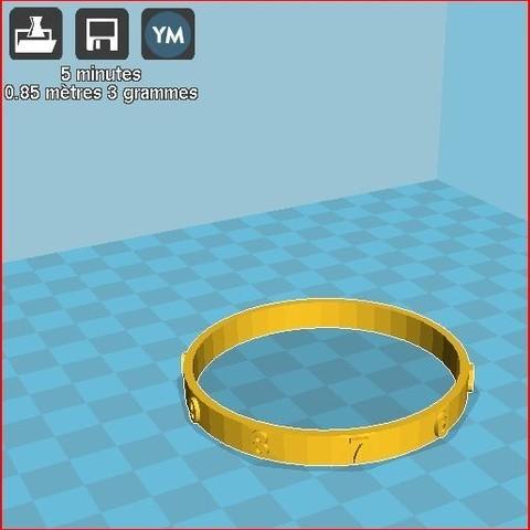 Free 3D printer file child figure bracelet, frednad