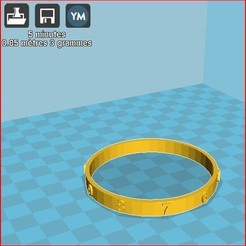 Download free 3D printing files child figure bracelet, frednad