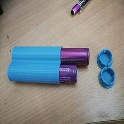 Diseños 3D Recuadro 2 pilas de cigarrillos electrónicos 18650, frednad