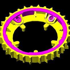 3D file ring wheel wheelbarrow wheel robomow, frednad
