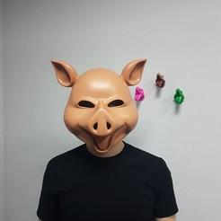 3D printer files Pig Mask, YanLebedev
