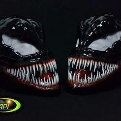 STL file Venom Mask Cosplay Venom, YanLebedev