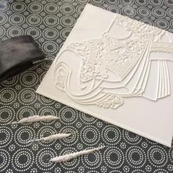 Download 3D printer designs Ukiyo-e Woodblock Printing - The Geisha, PrinterWithAttitude