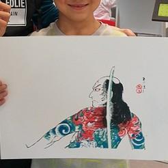 Descargar archivo 3D Impresión de Bloques de Madera Ukiyo-e - Kabuki Samurai, PrinterWithAttitude
