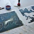 Download free 3D printing templates Ukiyo-e Woodblock Printing - Old Tiger in the Snow, PrinterWithAttitude