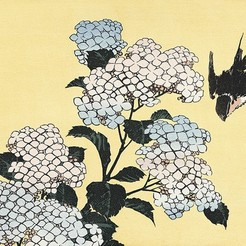 Download free 3D printing designs Ukiyo-e Woodblock Printing - Hydrangia by Hokusai, PrinterWithAttitude