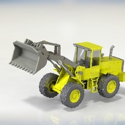 STL files Tractor shovel, cnc