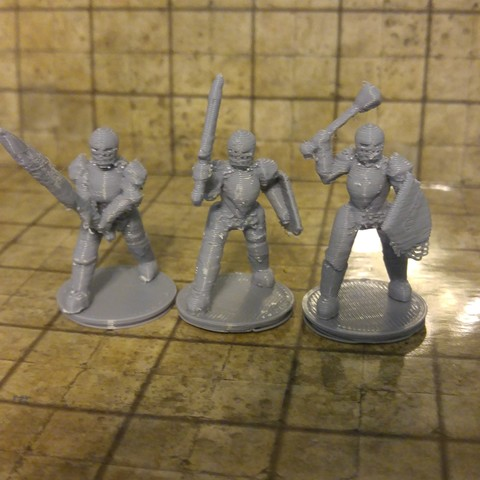 Download STL file 28mm Scale Miniatures: General Paladin • Template to 3D print, liemprefon