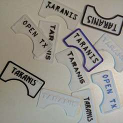 Download free 3D print files Taranis FR Sky Sticker Plate, MaxPoindexter