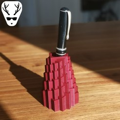 Free 3D printer model Tower Pen Holder, The_Austrian_Maker