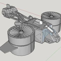 Descargar archivos STL gratis Girócopter de ciencia ficción, Paul_Vallon