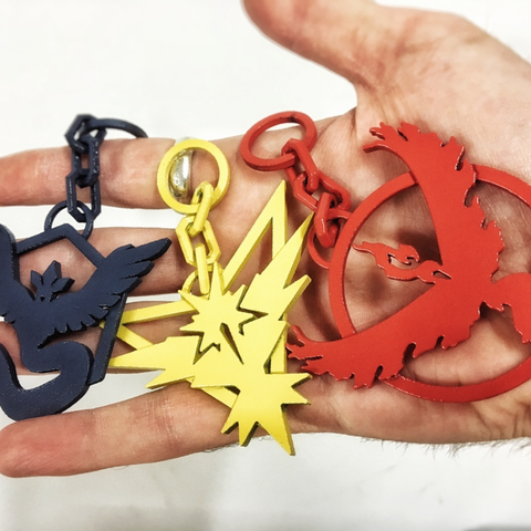 Free STL file Pokemon Go Teams logo keyrings SLS REMIX, Solid_Alexei