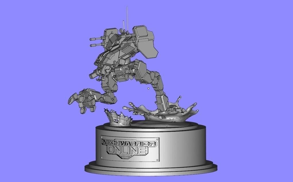 Untitled.jpg Download free STL file MechWarrior Online Locust Statue • 3D printer object, Solid_Alexei