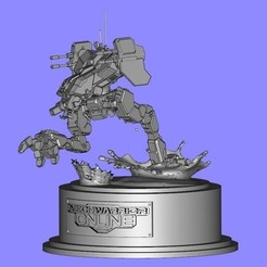 Download free 3D printer model MechWarrior Online Locust Statue, Solid_Alexei