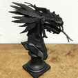 Download free 3D printing models SMITE Kukulkan Bust, Solid_Alexei