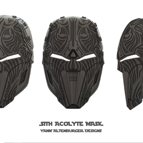 SITH_ACOLYTE_VIEWS.png Download STL file Sith Acolyte Mask • Design to 3D print, Elvalian