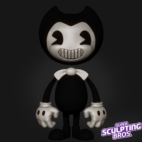 Download free STL file Bendy the demon • Template to 3D print, prozer