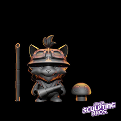Capture d'écran 2017-10-03 à 14.42.14.png Download free STL file Teemo classic (urban toy style) from league of legends • 3D print model, prozer