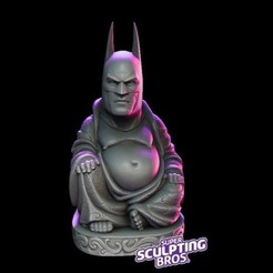 3D printed batman buddha.jpg Download free STL file another batman buddha • 3D print model, prozer