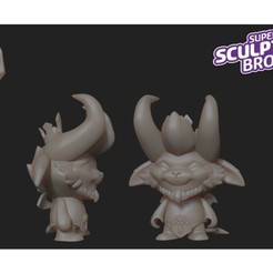 Free little devil teemo (urban toy style) from league of legends 3D printer file, prozer