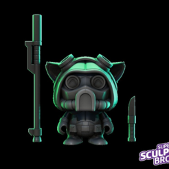 Free STL file Teemo omega squad (urban toy style) from league of legends, prozer