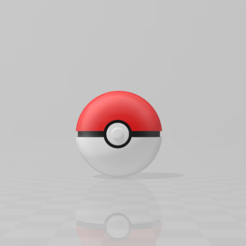 Download free 3D printing models CLASSIC PokeBall, LuliasMartch