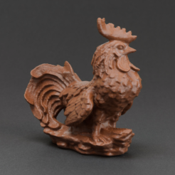 Free 3d printer designs Garden Rooster, WorksBySolo