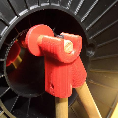 Capture d'écran 2017-02-24 à 16.27.46.png Download free STL file  Thing-O-Matic Filament Spool Bracket • 3D printable object, WorksBySolo