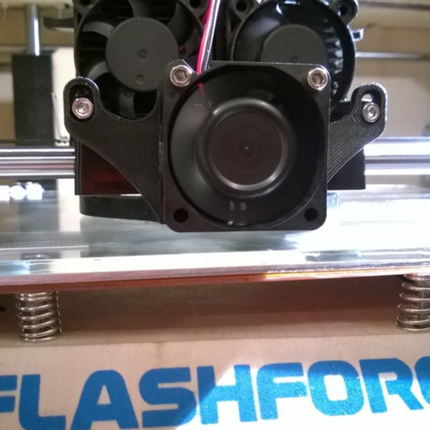 Download free 3D printer designs Flash Forge Cooling Fan Duct, WorksBySolo