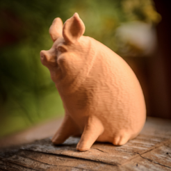 Download free STL file Garden Pig • 3D printable template, WorksBySolo