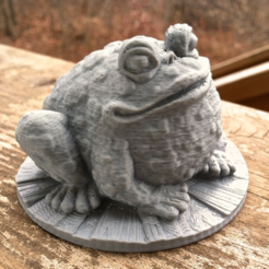 Download free 3D printer designs Garden Toad, WorksBySolo