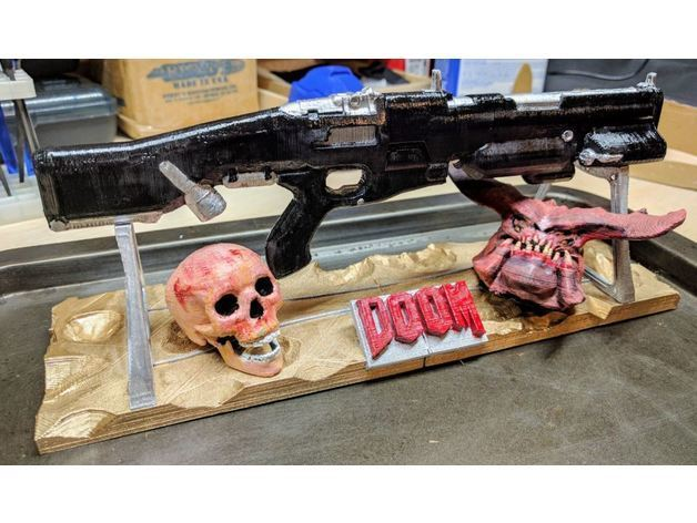 Weapon_stand.JPG Télécharger fichier STL gratuit Armes de combat (Doom) • Design à imprimer en 3D, Animalgel