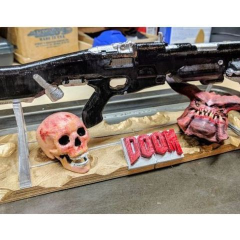 Free 3D printer model Combat shotgun weapon stand (Doom), Animalgel