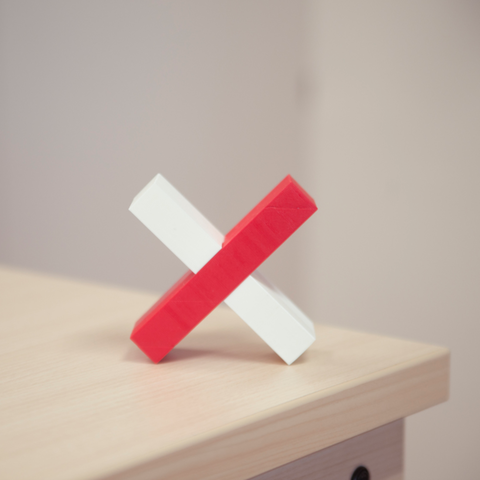 Download STL file The X-Challenge • 3D printable template, Duveral