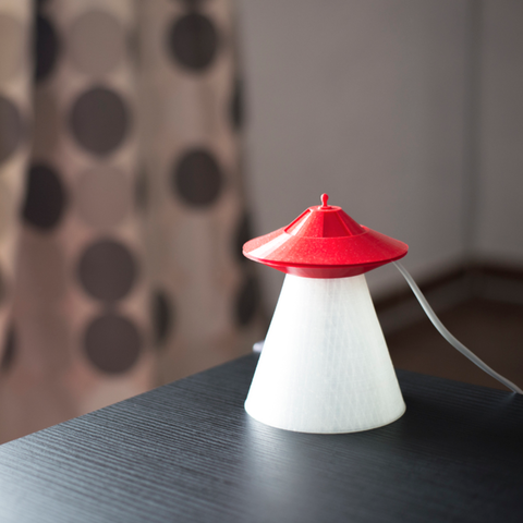 Free UFO lamp 3D printer file, Duveral