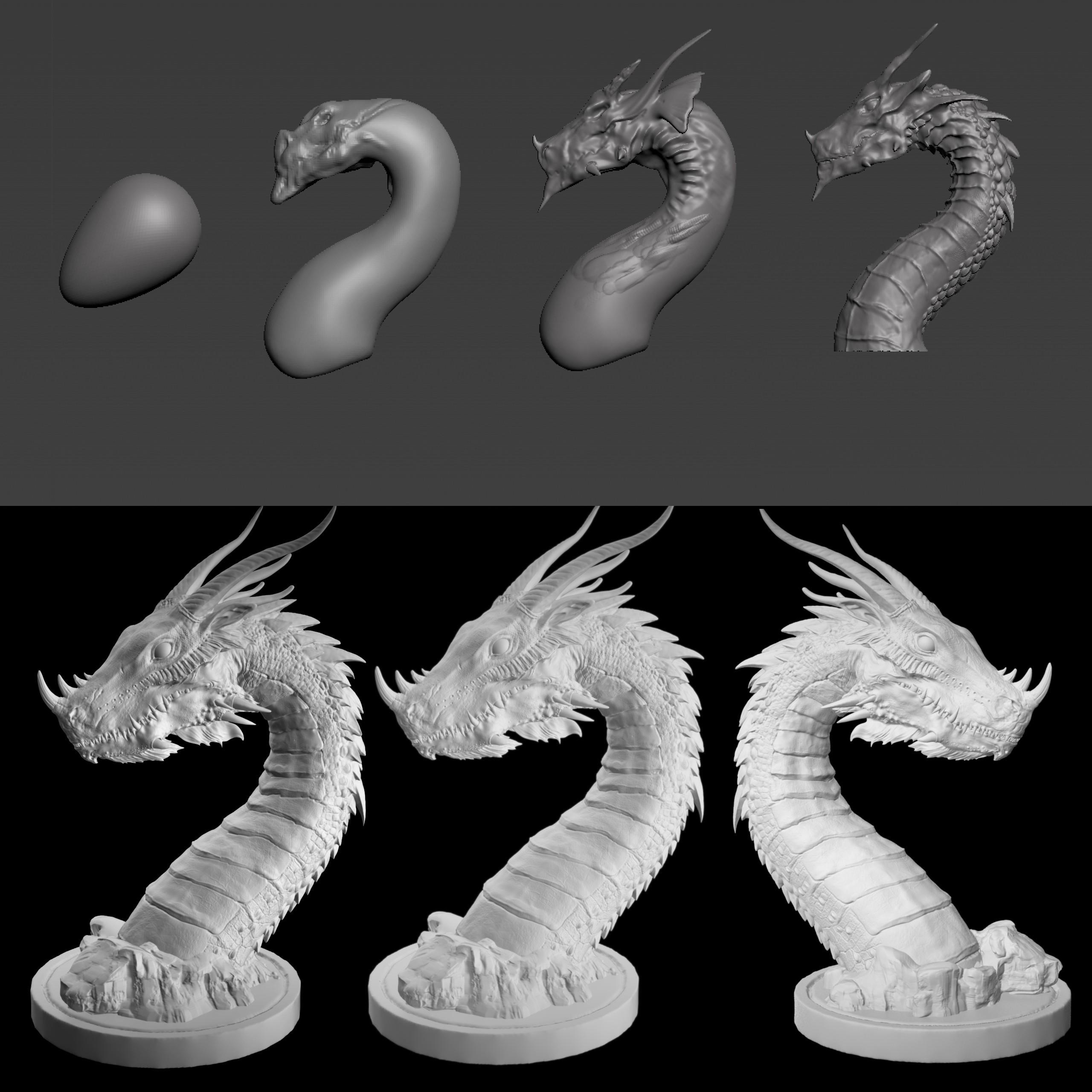 07.jpg Download STL file Era Dragon • 3D print object, Zhong