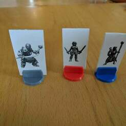standees.jpg Download free SCAD file Standee Base for Cardboard Miniatures • 3D printing object, Mr_Disintegrator