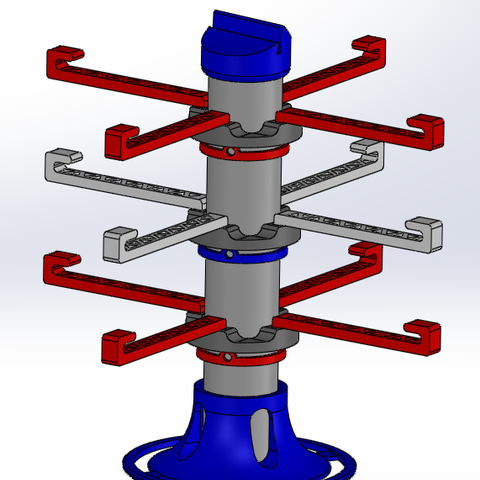 STL file Rotary jewelry holder, ConceptyPrint3D