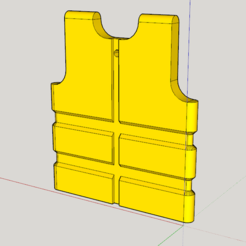 Free 3D printer designs Yellow vest for rearview mirror and yellow key ring vest, TATANKA