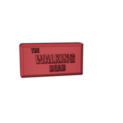 Download free 3D printer designs logo the walking dead, omegaregulus