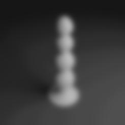 3D printing model Anal Beads Plug, anythingelse