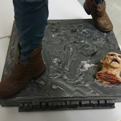 3D print model walking dead stand, lisaloo