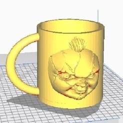 chuckycup.jpg Download STL file chucky mug cup • 3D printable design, lisaloo