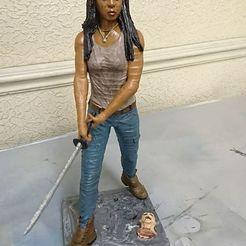 3D printing model walking dead, lisaloo