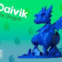 Download free 3D print files Daivik the Dragon, Bamboozaler