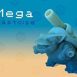 Descargar STL gratis Blastoise (Mega), Erik_Glyphwood
