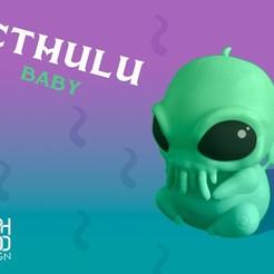 cthulu_baby_promo2.jpg Download free STL file Cthulu Baby • 3D printable model, Erik_Glyphwood